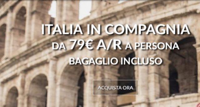 Ecco le speciali offerte Alitalia in compagnia di febbraio 2018: voli andata e ritorno con bagaglio incluso da 79 euro a persona.