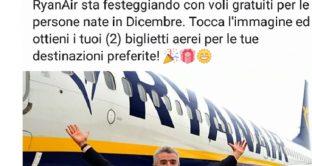 Non aprite il link: Ryanair 2 biglietti gratis per i nati a dicembre su Whatsapp e Facebook, sono fake news. Ecco le vere offerte di Ryanair tra cui soggiorno a Tessalonica in Grecia.