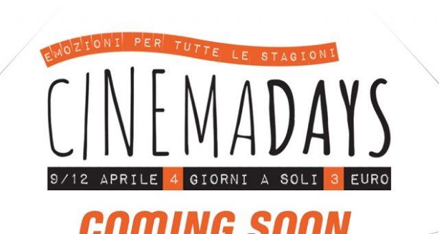Torna l'iniziativa Cinema2Day  del 2018 grazie alla quale i film si potranno visionare a 3 euro, ecco tutte le date.