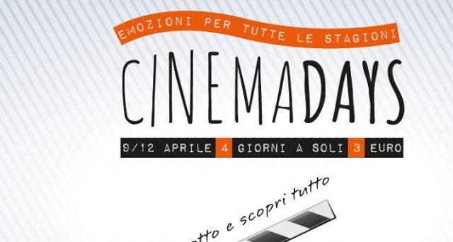 Ecco l'ultima data di CinemaDays, il cinema a 3 euro e l'elenco sale aggiornato ad oggi 4 settembre 2018 a Napoli, Roma e Milano.