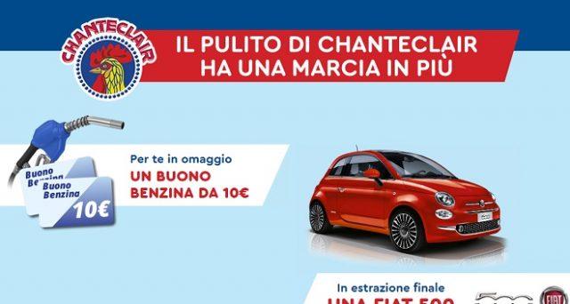 Ecco come fare per ricevere buoni benzina del valore di 10 euro e come partecipare al concorso per vincere una Fiat 500 rossa con Chanteclair.