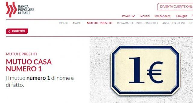 """Ecco le info e le principali caratteristiche di Mutuo casa numero 1 """"di nome e di fatto"""" di Banca Popolare di Bari."""