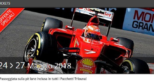 Ecco le date e le offerte sui biglietti del GP di Monaco di Formula 1 2018 sul circuito di Montecarlo.