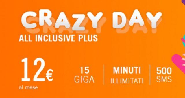Solo oggi 4 maggio 2018 si potrà attivare la super promozione Wind Crazy Day solo oggi 4 maggio con minuti illimitati, sms, Now Tv e 15 Gb in 4G a 12 euro.