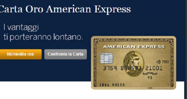 Ecco bonus e caratteristiche principali a confronto di Carta Oro American Express e carta Blu.