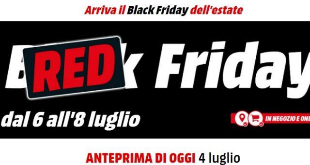 Dopo Il Black Firday arriva il Red Friday di Mediaworld: super saldi sia online che in negozio, ecco l'anteprima oggi 4 luglio 2018.