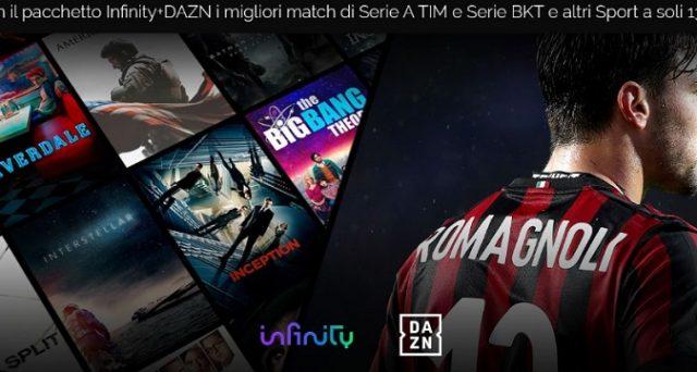 DAZN sbarca anche su Infinity a soli 13,99 euro invece di 17,99 euro: ecco cosa si potrà visionare compresi alcuni match di Serie A.