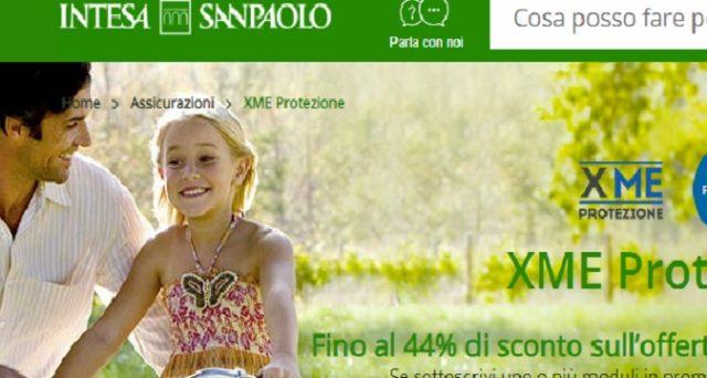 """Ecco le info sulla polizza """"XME Protezione"""" di Intesa San Paoli con sconti fino al 44% per la promozione d'autunno."""