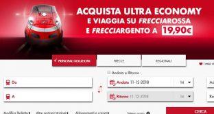 Ecco la nuova super offerta di Trenitalia: il biglietto Ultra Economy  per viaggiare su Frecciarossa e Frecciargento a 19,90 euro.