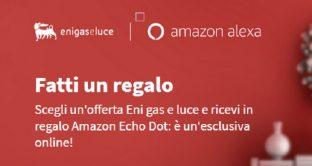 Arriva la promozione prenatalizia di Eni Gas e Luce: chi l'attiverà avrà in regalo Amazon Echi Dot e Sky Tv.