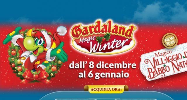Ecco le principali offerte di Natale 2018 di Gardaland tra cui Magic Winter e lo sconto sui biglietti di ingresso al Parco se vestiti da Babbo Natale.