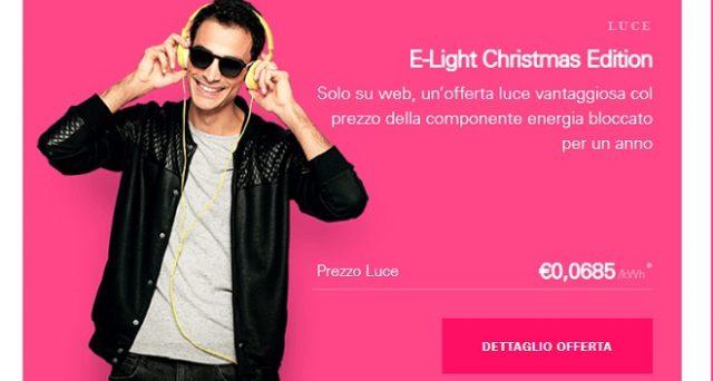 Arrivano le offerte natalizie di Enel Energia Mercato Libero per la casa: E-Light Luce e Gas Christmas Edition.