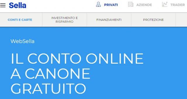 Ecco le principali caratteristiche del conto corrente online Web Sella con canone e carta di debito gratis.