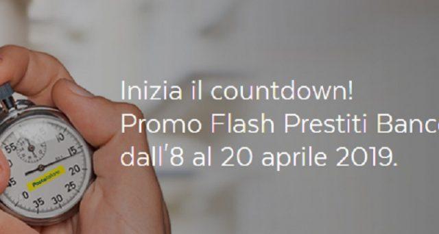 Arrivano i Flash Prestito BancoPosta di Poste Italiane saranno riservati a coloro che hanno un conto corrente BancoPosta con l'accredito delle stipendio e della pensione e a coloro che hanno un libretto di risparmio: le info.