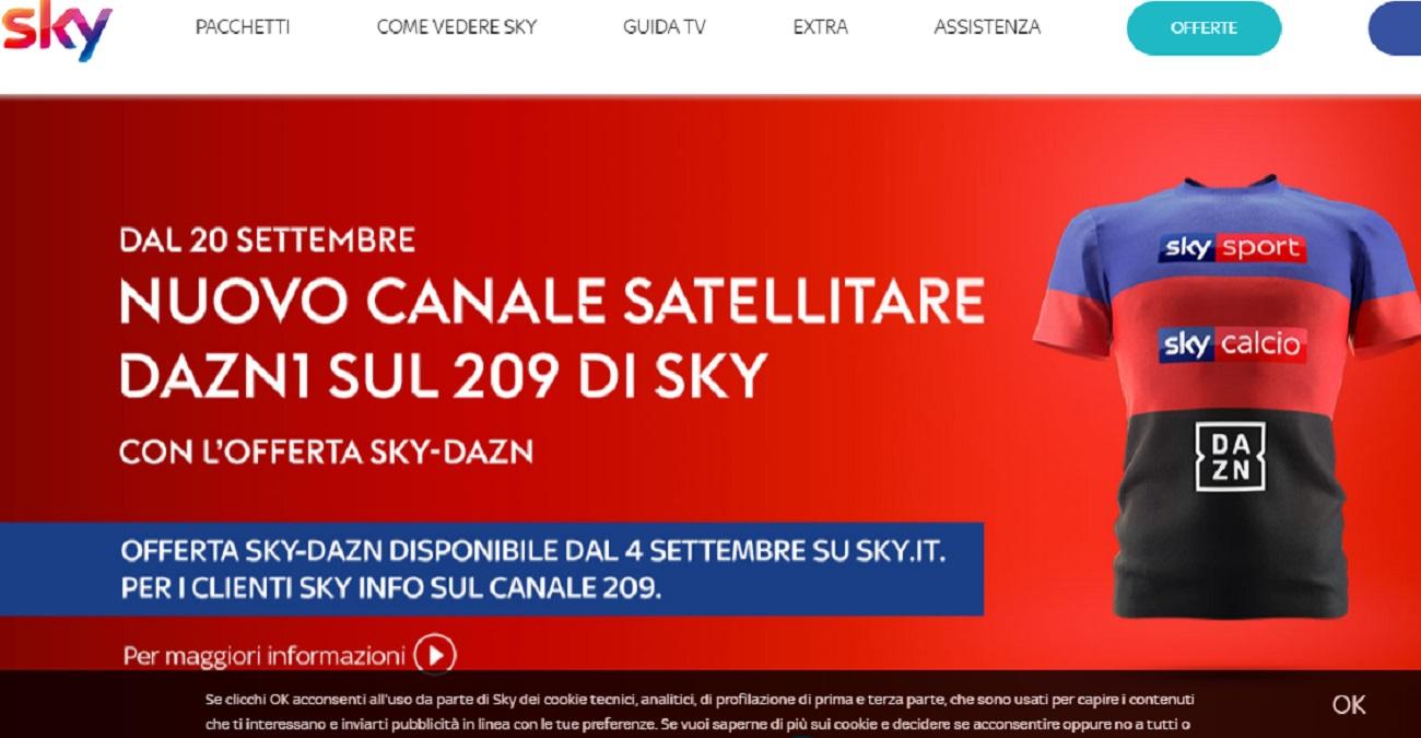 Offerte Sky-Dazn oggi 4 settembre arriva una grande novità