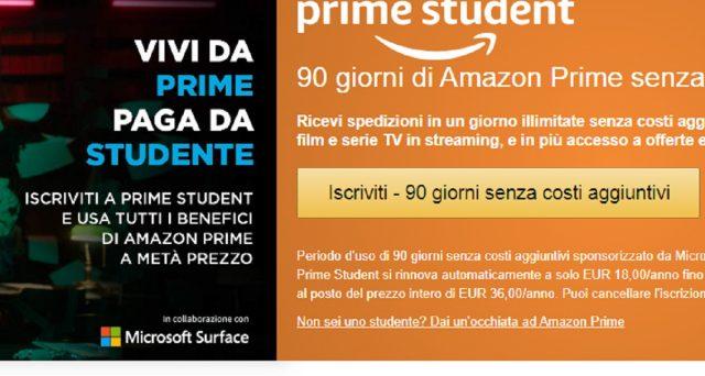 Amazon lancia una strabiliante offerta: trattasi di Amazon Prime student, le info e le caratteristiche.