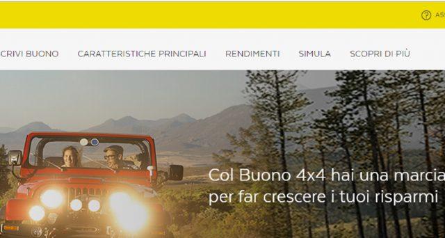 Poste Italiane lancia i buoni fruttiferi postali 4x4: caratteristiche, rendimenti, modalità di rimborso e prescrizione.