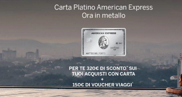 Per i nuovi clienti che vorranno attivare la carta platino American Express ci sarà un'offerta di benvenuto: ecco tutte le info.