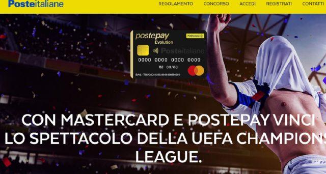 Ecco come vincere i biglietti anche per la finale di Champions League 2020 grazie a Postepay Evolution e Mastercard.