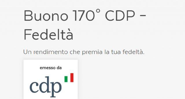 I bfp 170° CDP – Premium non sono più sottoscrivibili mentre restano quelli Fedeltà: le info.