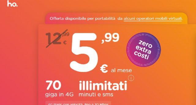Dalla giornata di ieri, Ho.Mobile propone un'offerta galattica: promo con 70 Gb a 5,99 euro e costo di attivazione più sim card a 0,99 euro: i dettagli.
