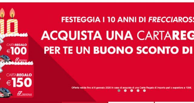 Ecco la super offerta Trenitalia per festeggiare i 10 anni di Frecciarossa e la promo per Natale 2019