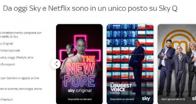 Cambiano i pacchetti inclusi Sky Fibra e Satellite ma la novità è Netflix. Aumenta invece l'abbonamento al Digitale Terrestre. Le nuove offerte di fine gennaio 2020.