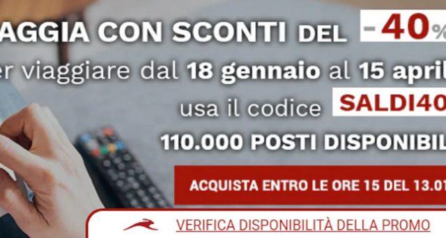 Italo Treno lancia i saldi invernali con sconti fino al 40% sui biglietti.