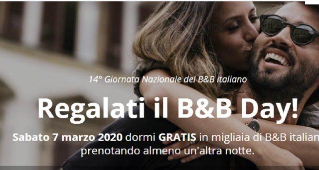 Notte gratis nei B&B d'Italia il 7 marzo: un bel regalo anche per la Festa della donna.