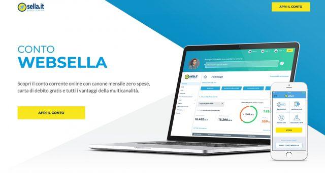 Tutte le caratteristiche principali del conto corrente online Web Sella.