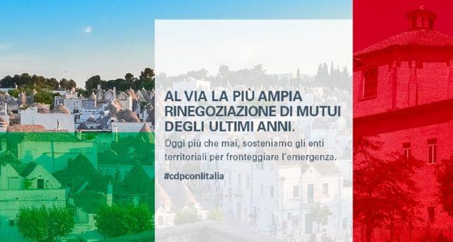 A breve partirà la rinegoziazione mutui per province, comuni, città metropolitane, unioni di comuni, comunità montane, province autonome e regioni.