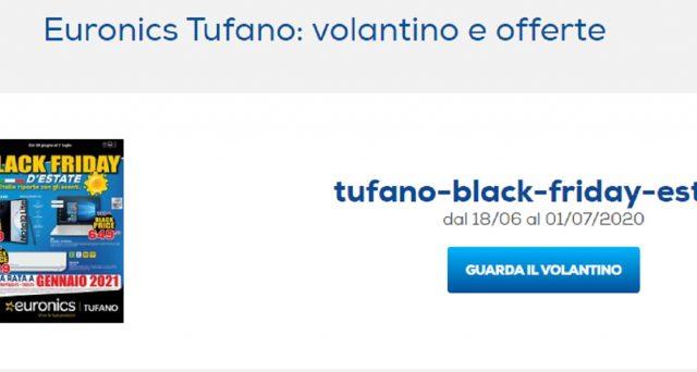 Euronics Tufano lancia il Black Friday d'estate 2020: ecco tutti i black price.
