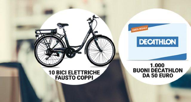 Con il concorso 'A tutto Sport', Monte dei Paschi di Siena mette in palio bici elettriche e buoni acquisto per Decathlon. Come partecipare.