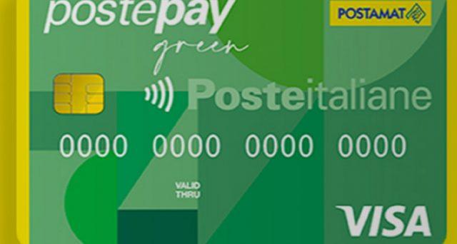 Come funziona e quanto costa la nuova carta prepagata Postepay Green nata dalla collaborazione tra Poste Italiane e Visa.