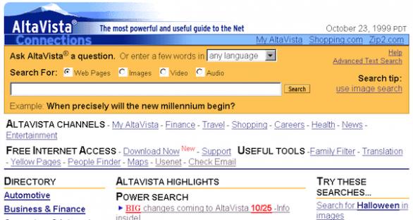Yahoo! chiude AltaVista, uno dei primi motori di ricerca con cui abbiamo iniziato a scoprire un nuovo modo di recepire informazioni. Marissa Mayer, la nuova CEO di Yahoo!, continua la sua opera di repulisti, con l'obiettivo di contenere le spese e aumentare l'efficienza dei propri servizi.
