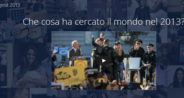 Com'è stato il 2013 di Google? Ci risponde direttamente il motore di ricerca di Mountain View, rivelandoci tutte le tendenze dell'anno che sta per finire, le ricerche emergenti e lo spirito di un anno vissuto intensamente. Andiamo a scoprire il Google Zeitgeist 2013 per l'Italia.