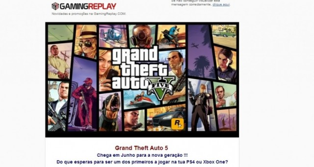 Spunta una nuova anticipazione sull'uscita di GTA 5 per PC, PlayStation 4 e Xbox One: a far parlare di sé è il negozio GamingReplay, sul cui catalogo compare GTA 5 sia per Xbox One sia per PS4, entrambe le versioni in uscita a giugno. Sarà la volta buona?