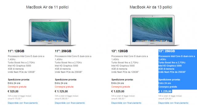 Apple ha aggiornato la nuova linea di MacBook Air 2014 potenziando il comparto hardware e ritoccando il prezzo al ribasso.