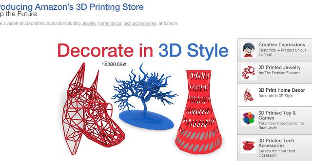 La nuova frontiera degli acquisti online parte da Amazon e dalla inedita distribuzione di oggetti fisici prodotti da stampanti 3D. Si tratta di Amazon 3D Printing Store, attualmente disponibile solo negli Stati Uniti.