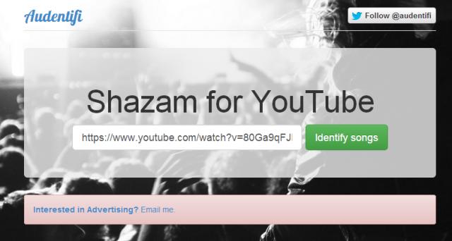 Audentifi è lo Shazam per YouTube, in grado di riconoscere brani musicali dei video che abbiamo visto e indicarci tutte le informazioni utili sull'autore, il gruppo e le canzoni in questione.