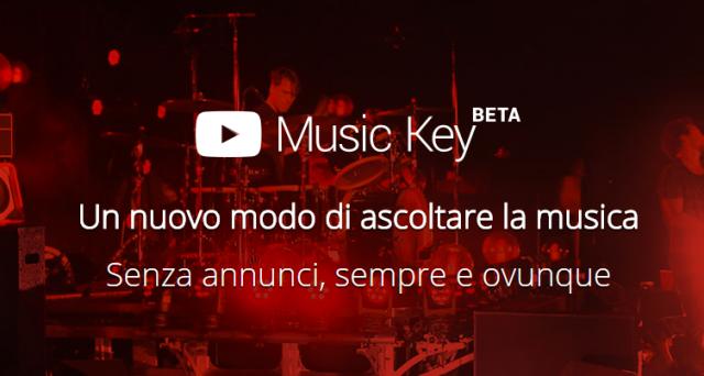 YouTube Music Key è finalmente ufficiale: disponibile in fase beta, il nuovo servizio di streaming musicale di Google si affianca ai concorrenti promettendo milioni di contenuti e sorprese a chi deciderà di abbonarsi.