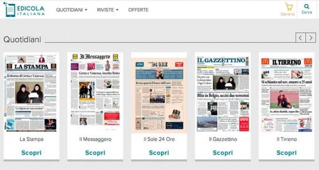 Nasce Edicola Italiana, la piattaforma digitale che ci consente di abbonarsi e leggere quotidiani e riviste su PC, smartphone e tablet.