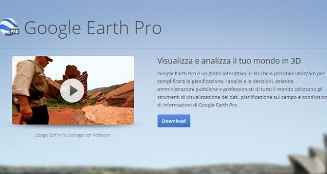 Google Earth Pro è diventato gratis per tutti: per servirsene non sarà dunque più necessario sborsare 399 dollari all'anno. Scopriamo come scaricare il programma e soprattutto cosa si può fare con Google Earth Pro.