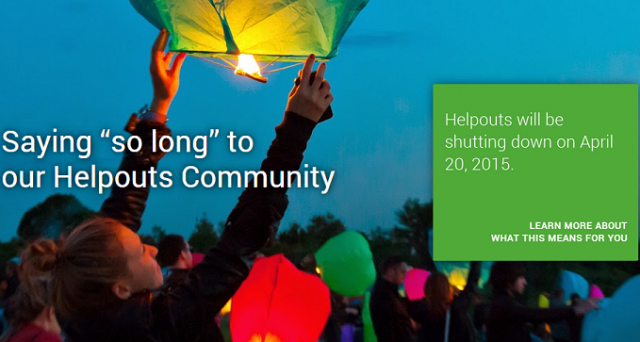 Google ha deciso di chiudere Helpouts il 20 aprile 2015: le ragioni del flop in un comunicato dell'azienda.