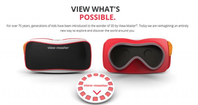 Da Google e Mattel ecco il nuovo View Master, dispositivo di realtà virtuale low cost che funziona con uno smartphone Android.