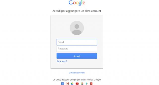 creare nuovo account gmail