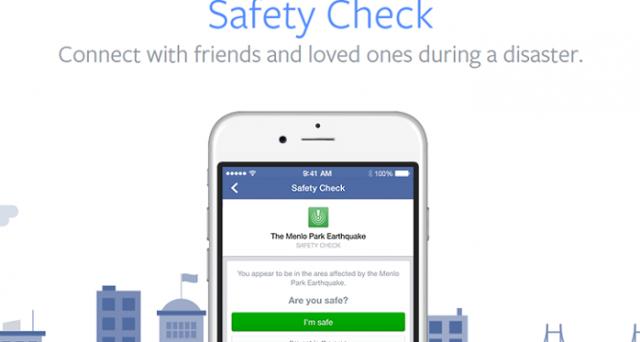 Dopo il terremoto in Nepal, Facebook ha inaugurato la nuova funzione Safety Check, che ha il compito di rassicurare gli amici sulle condizioni delle persone che si trovano in zone colpite da disastri.