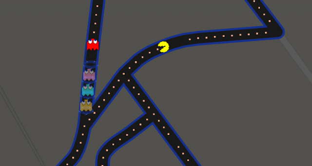 pac man su google maps