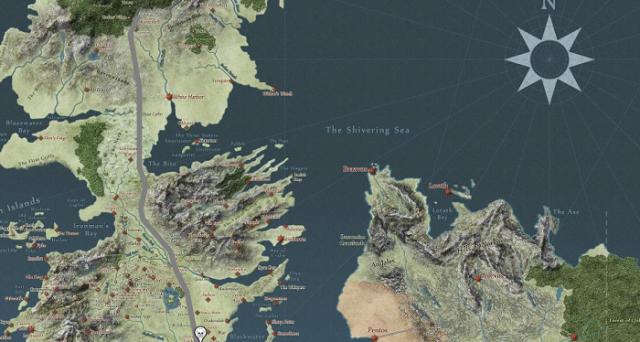 Avreste mai voluto avere sotto gli occhi la mappa di Westeros, continente dei Sette Regni nella saga di Game of Thrones? Ecco come fare.