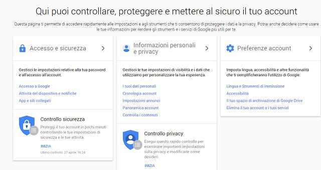Due grandi novità in nome della privacy portano il nome di Google: una è legata al nostro Account Personale, l'altra alla politica di privacy e sicurezza adottata da Big G. Eccole nel dettaglio.